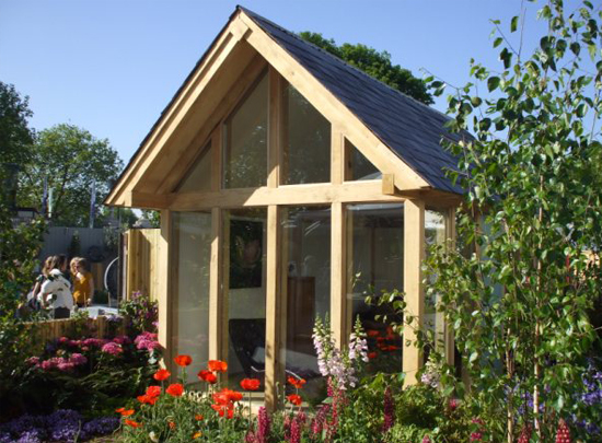 Glass and Oak Summer House